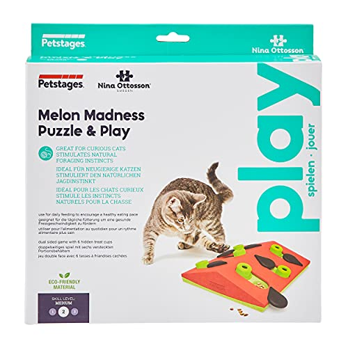Product Image 2: Petstages Nina Ottosson Melon Madness Puzzle & Play – Interactive Cat Treat Puzzle