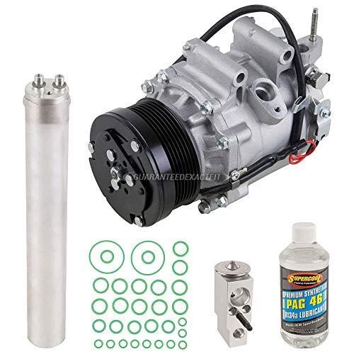 AC Compressor & A/C Kit For Honda Civic 1.8L 4-Door Sedan 2006 2007 2008 2009 2010 2011 w/ 3-Pin Connector LX EX DX GX - BuyAutoParts 60-81189RK NEW