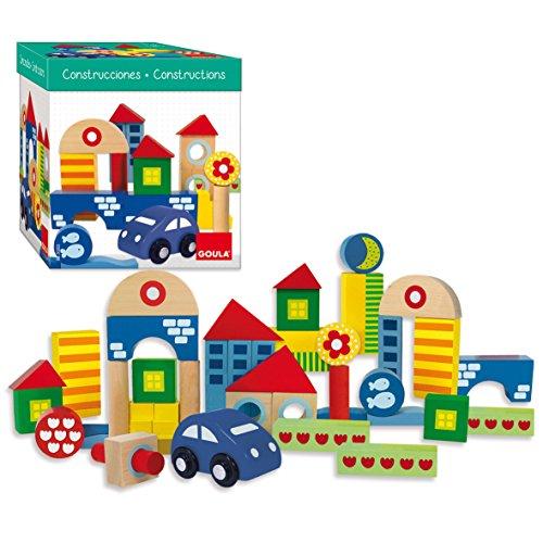 Goula - Pack 41 piezas de arquitectura, Juego de construcciones para niños a partir de 1 año