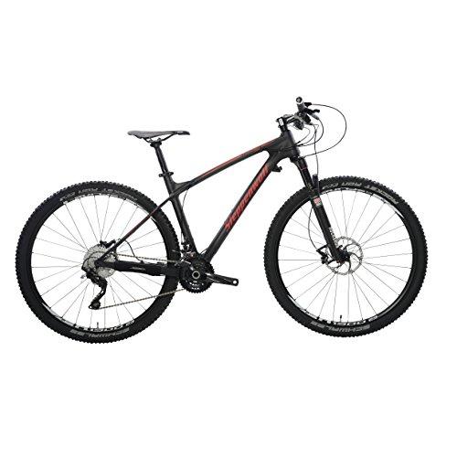 Steppenwolf Men's Tundra Carbon Pro Hardtail Mountain Bike, 29 inch wheels, 20.5 inch frame, Men's Bike, Black/Red, 99% assembled