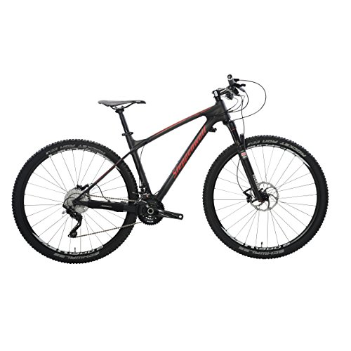 Steppenwolf Men's Tundra Carbon Pro Hardtail Mountain Bike, 29 inch wheels, 20.5 inch frame, Men's Bike, Black/Red, 99% assembled