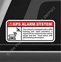 GPS Alarm System Warning Sticker Set Vinyl Decal Anti Theft Car Motorcycle Vehicle Security Sign