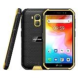 4G Outdoor Handy Günstig Ulefone Armor X7 (2020) Smartphone ohne Vertrag Android 10, 5 Zoll Quad-Core 2GB+16GB, 4000mAh, IP68/IP69K Wasserdicht Stoßfest, Dual SIM 4G LTE GPS OTG NFC Face ID-Orange