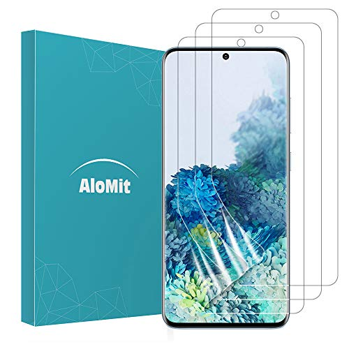 AloMit Screen Protector for Galaxy S20 Plus [3-Pack] [Support In-Display Fingerprint] [Case Friendly] [Wet Applied] [NOT Glass] Plastic Film for Samsung Galaxy S20 Plus 6.7''