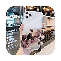 Dremy1 グラデーショングリッタースパンコールfor iPhone12 Mini 12 11 Pro Max XR XS Max 7 8Plusケース用クリア電話ケースソフトIMD電話カバー-f-for iPhone 12Mini