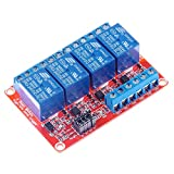 HiLetgo 4 Channel 24V Relay Module with OPTO-Isolated Support High and Low Level Trigger for PLC Automation Equipment Control
