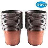KINGLAKE 100 vasi di plastica per Piante, Fiori e per la Semina,...