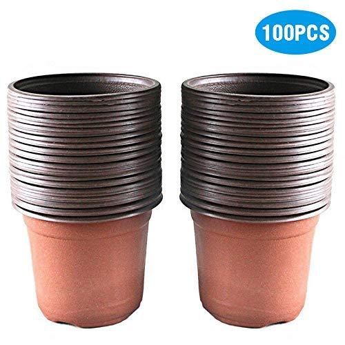 KINGLAKE 100 Stück Pflanztöpfe Pflanzkübel 10CM *10CM * 9CM Pflanzentöpfe (Small Size)