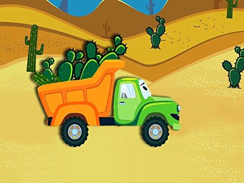 Der Lastwagen und Müllwagen
