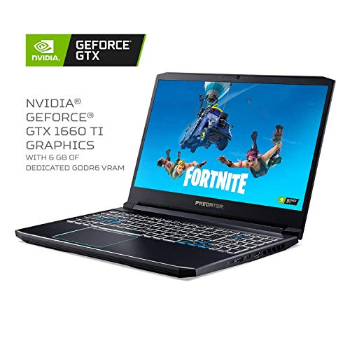 9th Generation Intel Core i7 9750H 6 Core Processor (Up to 4.5GHz) with Windows 10 Home 64 Bit NVIDIA GeForce GTX 1660 Ti Graphics with 6GB of dedicated GDDR6 VRAM 15.6 inches Full HD (1920 x 1080) Widescreen LED backlit IPS Display (144Hz Refresh Ra...