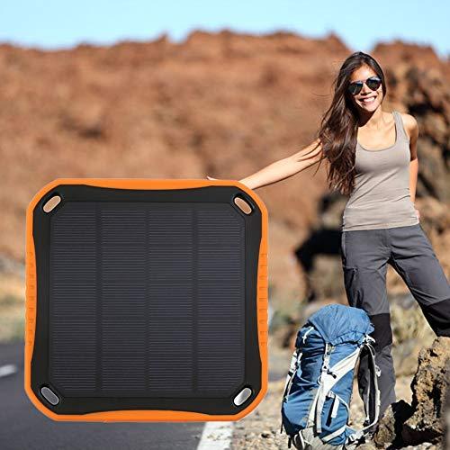 Triamisu Dual USB 5600mAh Teléfono móvil Impermeable Cargador de batería Solar Power Bank - (En Stock)