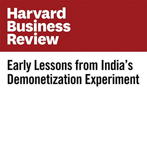 Early Lessons from India's Demonetization Experiment cover art