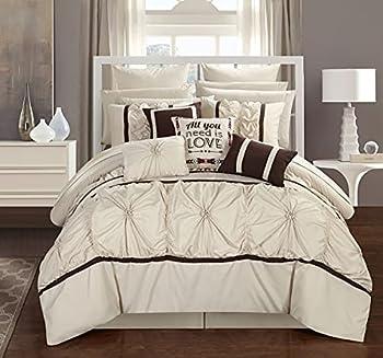 Chic Home Ashville 16 Piece Comforter Set King Off-White