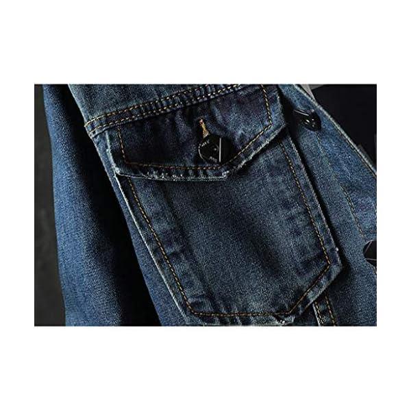 Men's Casual Lightweight Slim Fit Pockets Button Down Denim Jackets Plus Sizes 6