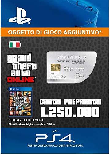 Grand Theft Auto Online - GTA V Cash Card   1,250,000 GTA-Dollars   Codice download per PS4 - Account italiano
