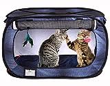 Cat Crate, Stress Free Travel Cat Kennel, Portable Indoor Outdoor Pet Crate, Cat...