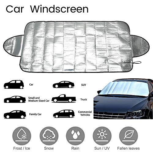 nobrand 147x70cm Auto Windschutzscheibe Sonnenschutz SUV Magnetic PE Shade Schnee Block-Windschutzscheibe Eisbedeckung Staub Sonnenschutz-Schutz in Allwetter (Color : Silver)