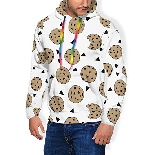 Heren Hoodie Cookies Voedsel Chocolade Chip Koekjes Hooded Sweatshirt Jumper met Capuchon met Fleece