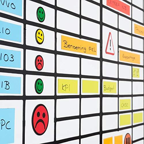 Whiteboard Raster Quick Grid 59 cm x 39 cm Schwarz für Magnettafeln, Kühlschränke, Plantafeln und Whiteboards. Schnelle Raster