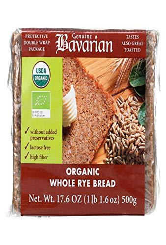 Bavarian Bread, Frozen, Bread Whole Rye Organic, 17.6 Ounce