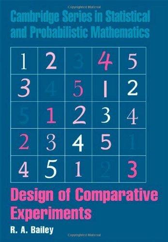 Design of Comparative Experiments (Cambridge Series in Statistical and Probabilistic Mathematics Book 25) (English Edition)