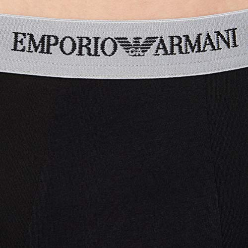 Emporio Armani Underwear Men's 111357CC717 Trunk (Pack of 3), Multicolor (White/Black/Grey 02910), Medium