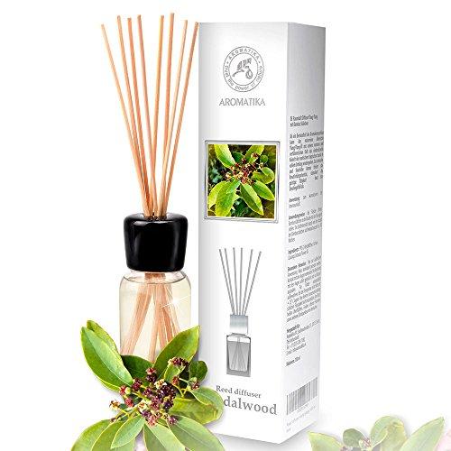 Difusor de Sándalo 100ml - Fragancias de Intensas y Duraderas - con 8 palitos de bambú - 0% Alcohol - Set de para Aromatizar el Aire para Cuartos - Aromaterapia - Ambientador