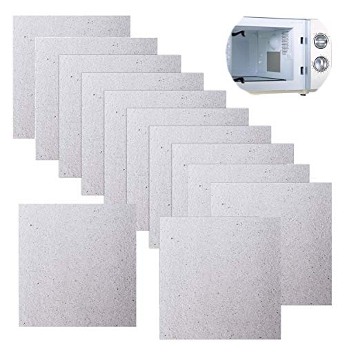Placas de mica microondas,Mengger 12pcs Carton Microondas 13cm x 13cm,Lamina de Mica hoja universal Reparación cubierta guia de ondas para horno de microondas