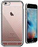 Luxendary poco Blanco Lunares Ultra Slim Case con Acabado Cromado para iPhone 6/6S