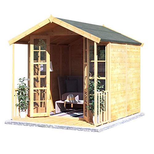 BillyOh Lily Tongue and Groove Apex Summerhouse | Included Floor and Roof - 2 Sizes (8x6)