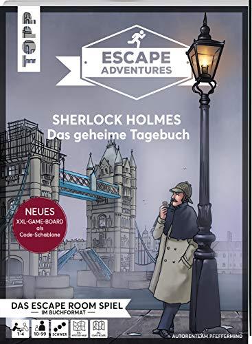 Escape Adventures – Sherlock Holmes: Das geheime Tagebuch (NEUE Codeschablone für mehr Rätselspaß): Das ultimative Escape-Room-Erlebnis jetzt auch als ... für 1-4 Spieler. 90 Minuten Spielzeit.
