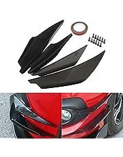 Ulofpc 4pcs parachoques delantero Spoiler Side Duck Splitter Fins Car Universal Bumper Spoiler