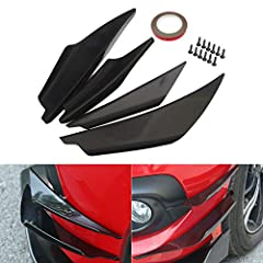 *Universal Front Bumper Splitter Fin Sets *Made of automotive grade ABS, not easy to crack and durable in use. *Quick way to add a spoiler/lip to any car for stylish look. *Stable screw mounting, easy to install on cars. *Through rigorous testing, to...