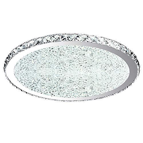 Lámpara de techo Plafones LED Cristal Moderno Luz de techo Acero inoxidable...