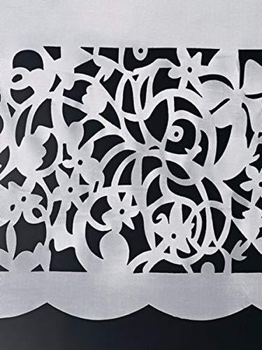 Gardinenbox.eu Panneaux, Farbe weiß, Schlaufen, Heine Home -170873- Größe: ca. 45x90 cm, mit Schlaufen
