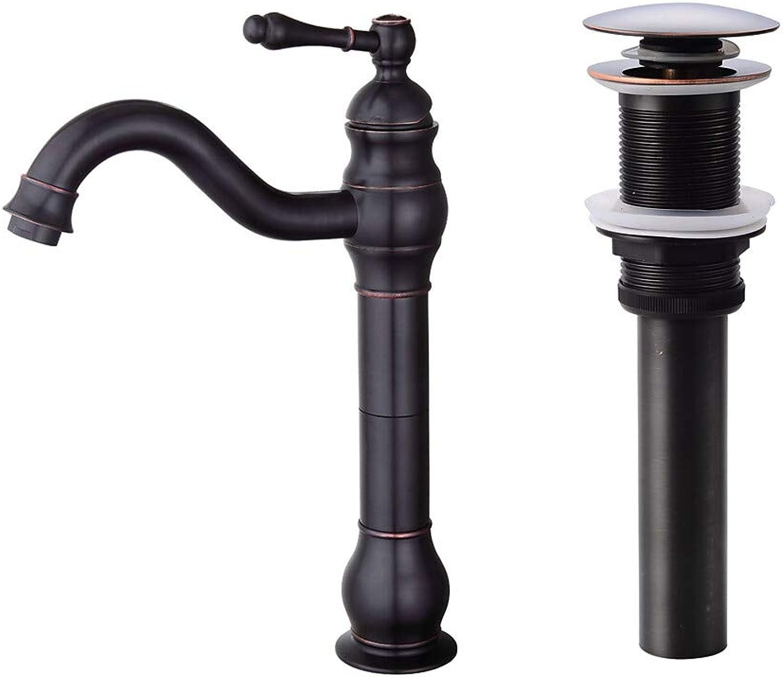 Sunny Key Centerset Ceramic Valve One Hole Oil-Rubbed Bronze, Faucet Set,2