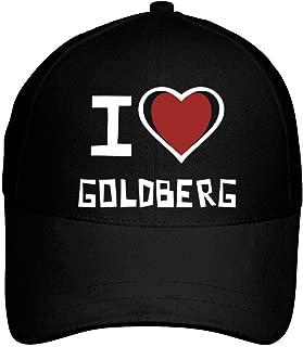 I Love Goldberg Bicolor Heart Baseball Cap Black