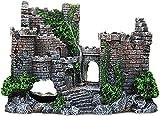 Bedspread Castillo abandonado Retro con Estatua de Algas Marinas, decoración de Acuario, Castillo Grande, Material de Resina, Suministros para peceras, Adorno para la Oficina en casa, Accesorios