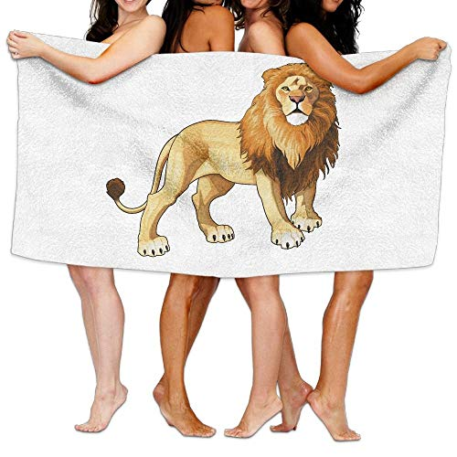 huibe Dibujos Animados Gracioso león del Rey Toallas de Playa Sábanas de baño de poliéster de Secado rápido,Toallas Frescas de Verano para Piscina Grande 80x130 cm