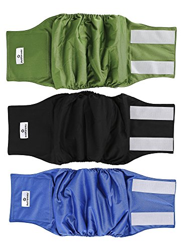 Pet Parents Premium Washable Dog Belly Bands (3pack) of Male Dog Diapers, Dog Marking Male Dog Wraps, WickQuick Belly Band for Male Dogs Color: Gentlemen, Size: Extra Small Dog Belly Band