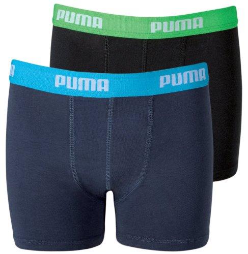 Puma Jungen Boxershorts Basic 2er Pack, india ink/turquo (376), 158-164, 525015001