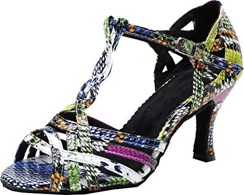 Zapatos de danza de personaje de las señoras de talón personalizado latino...