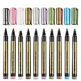 Yamyannie Set de Rotuladores 10 Colores Pluma de la Pintura Arte Marcadores Boceto Pintura Conjunto de lápiz de diseño arquitectónico Publicidad Rendering para Dibujar Pintura