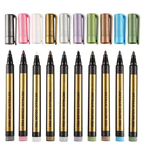 Stylo-marqueur 10 Couleurs Peinture Pen Art Marqueurs Dessin Peinture Set stylo for la conception architecturale publicité gratuite Taille Rendu Parfait pour les croquis de coloration d'illustrat