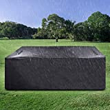 Innoo Tech Outdoor Patio Furniture Cover Protective Cover Square (71'X47' X29') Waterproof Patio Furniture Cover, Windproof, Uv Protection, for Patio Furniture, Outdoor Black