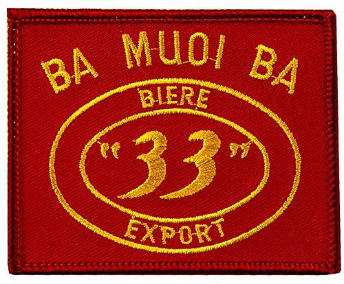 US Military Ba Muoi Ba Biere 33 Export Rot Gelb Vietnam Patch, mit Aufbügelkleber