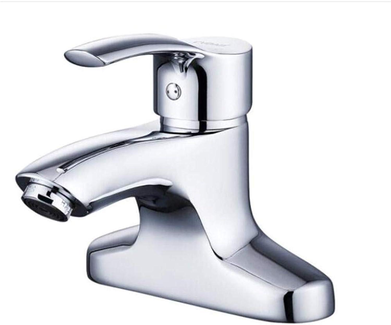 Kitchen Brass Vintage Chrome Bathroom Sink Basin Lever Mixer Tap Dual-Hole Basin Faucet Copper Basin Faucet Single-Hole Washbasin Faucet