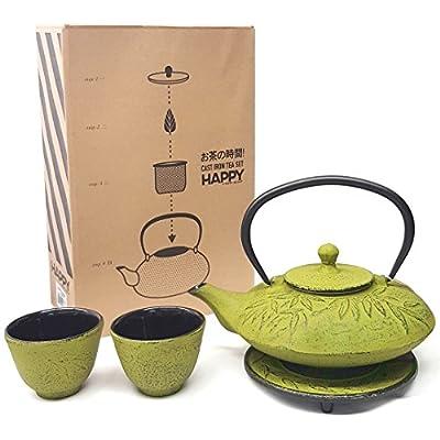 1 X Japanese Cast Iron teaset/Bamboo Med. Green