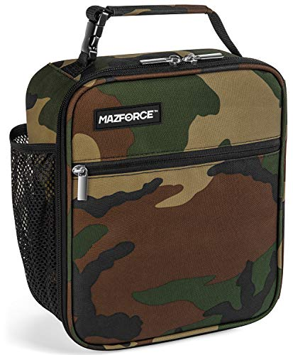 MAZFORCE Original Lunch Box Insulated Lunch Bag - Tough & Spacious Adult Lunchbox to Seize Your Day (Camo - Lunch Bags Designed in California for Men, Adults, Women)