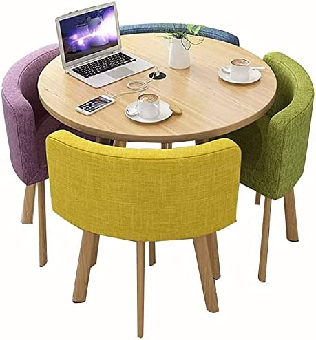 ZHZH Dining Table and Chair Set Chairs Daily bargain sale San Diego Mall Round Tables Shop